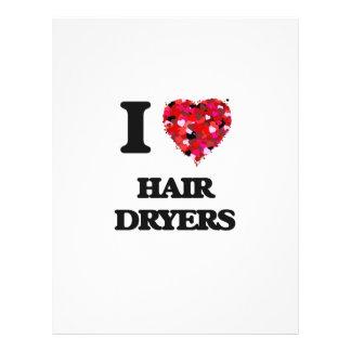 I Love Hair Dryers 21.5 Cm X 28 Cm Flyer