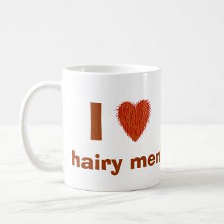 I Love (Hairy Heart) Hairy Men Funny Mug Template