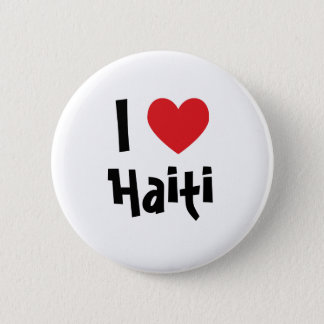 I Love Haiti 6 Cm Round Badge