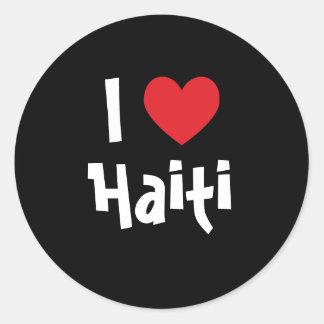 I Love Haiti Classic Round Sticker