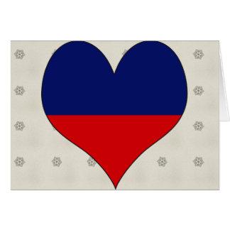 I Love Haiti Greeting Card