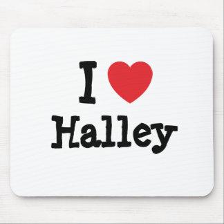 I love Halley heart T-Shirt Mouse Mat