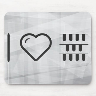 I Love Halloween Pianos Mouse Pad
