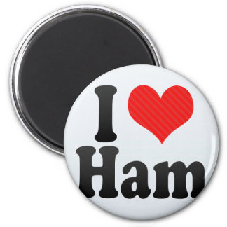 I Love Ham 6 Cm Round Magnet
