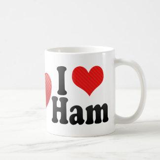 I Love Ham Basic White Mug