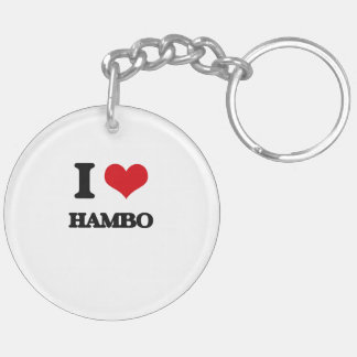 I Love HAMBO Acrylic Keychains