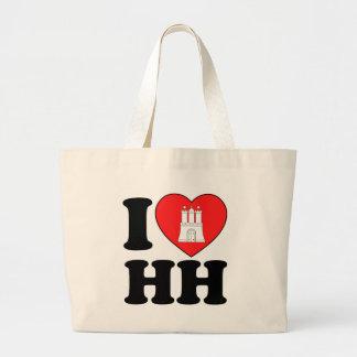 I Love Hamburg (HH) Jumbo Tote Bag