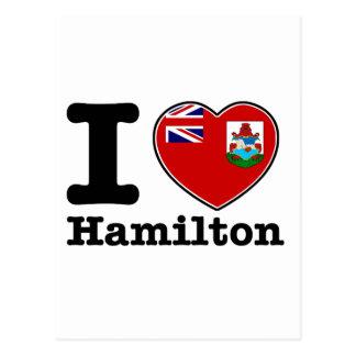 I love Hamilton Postcard