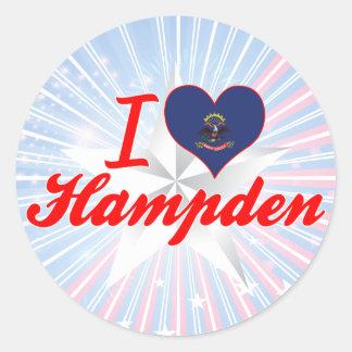 I Love Hampden, North Dakota Round Stickers