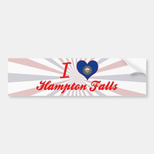 I Love Hampton+Falls, New Hampshire Bumper Sticker