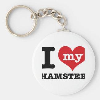 I Love hamster Key Chains