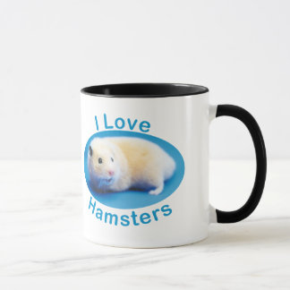 I Love Hamsters 325 ml Ringer Mug