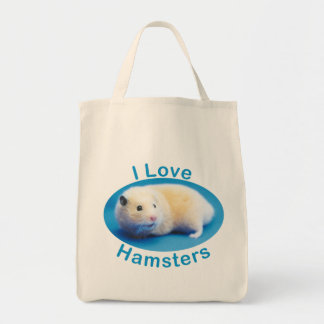 I Love Hamsters Grocery Tote Bag