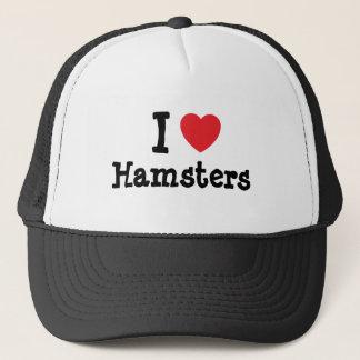 I love Hamsters heart custom personalized Trucker Hat