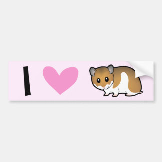 I Love Hamsters (syrian) Bumper Sticker