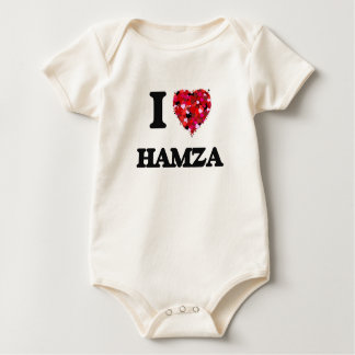 I Love Hamza Baby Creeper