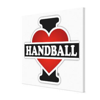 I Love Handball Stretched Canvas Prints