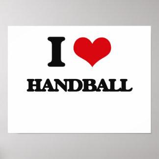 I Love Handball Poster