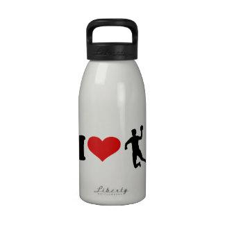 I Love Handball Reusable Water Bottle