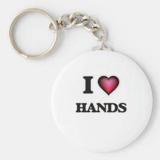 I love Hands Basic Round Button Key Ring