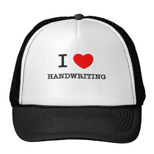 I Love Handwriting Trucker Hats