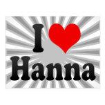 I love Hanna Postcard