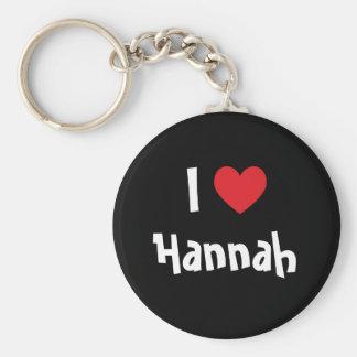 I Love Hannah Basic Round Button Key Ring