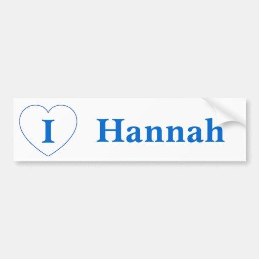 I Love Hannah (BpS) Bumper Stickers