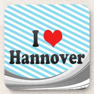 I Love Hannover Germany Drink Coaster
