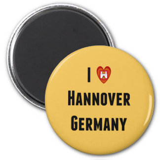 I Love Hannover, Germany 2 Inch Round Magnet