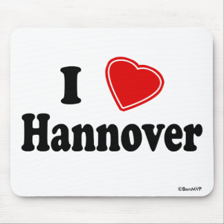 I Love Hannover Mouse Pad