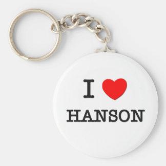 I Love Hanson Basic Round Button Key Ring