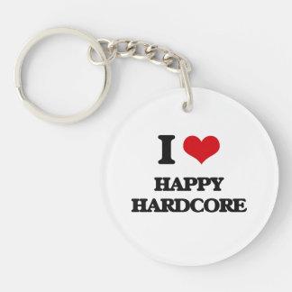 I Love HAPPY HARDCORE Acrylic Key Chains