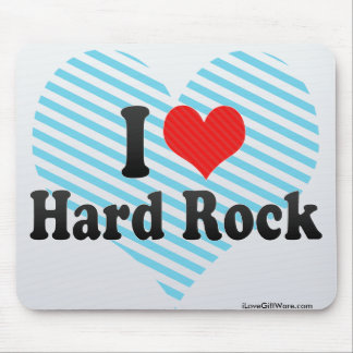 I Love Hard Rock Mouse Pad