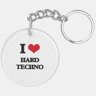I Love HARD TECHNO Acrylic Key Chain