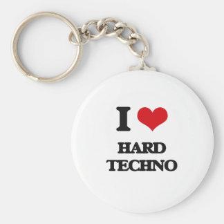 I Love HARD TECHNO Key Chain