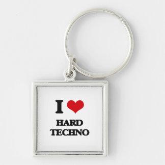 I Love HARD TECHNO Keychain