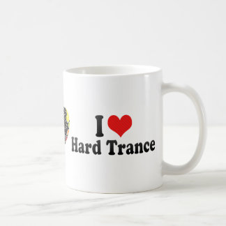 I Love Hard Trance Coffee Mugs