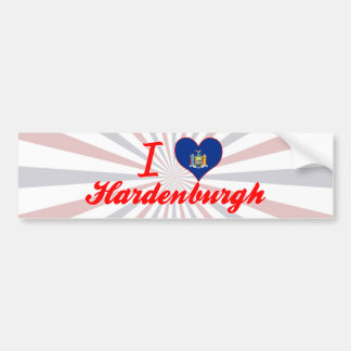 I Love Hardenburgh, New York Bumper Sticker