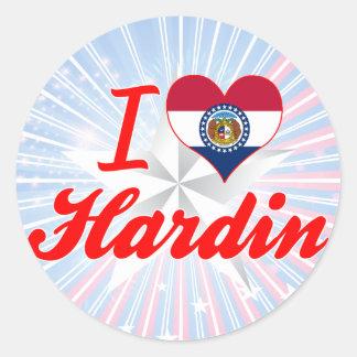 I Love Hardin Missouri Sticker