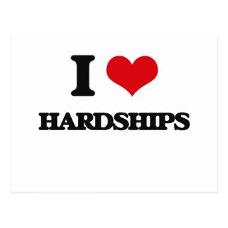 I love Hardships Postcard