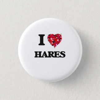 I Love Hares 3 Cm Round Badge