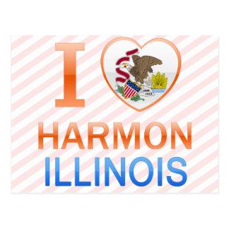 I Love Harmon, IL Postcard
