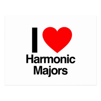 i love harmonic majors post card