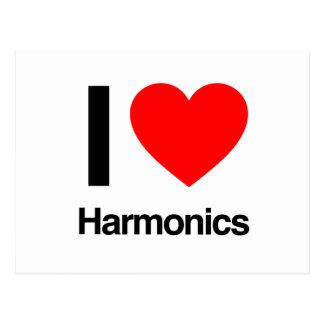i love harmonics postcard