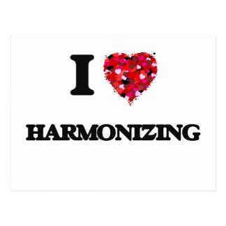 I Love Harmonizing Postcard