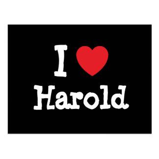 I love Harold heart custom personalized Postcards