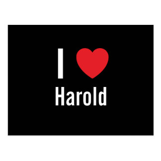 I love Harold Post Cards