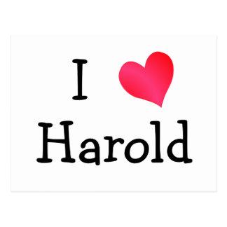 I Love Harold Postcards