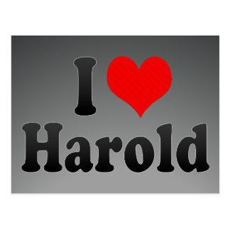 I love Harold Postcard